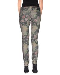 Pinko - Gray Casual Trouser - Lyst