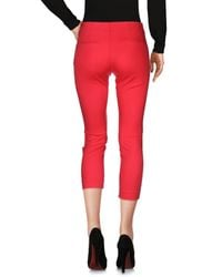 Space Style Concept Red Casual Pants
