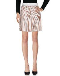 Les Copains White Knee Length Skirt