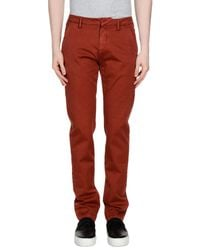 TRUE NYC - Red Casual Pants for Men - Lyst