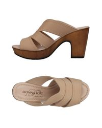 Donna Soft - Natural Sandals - Lyst