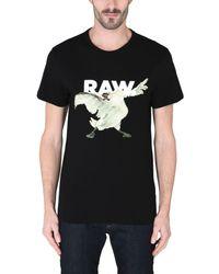 T-shirt G-Star RAW pour homme en coloris Black