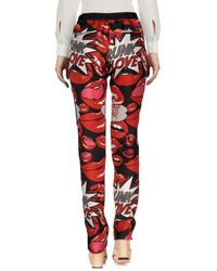 Philipp Plein Red Casual Pants
