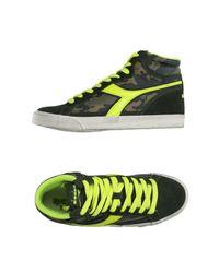 Diadora Green High-tops & Sneakers