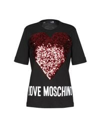 Camiseta Love Moschino de color Black