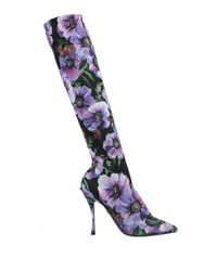Dolce & Gabbana Purple Stiefel