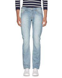 Sun 68 Blue Denim Trousers for men