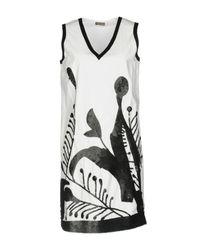 Maliparmi White Short Dress