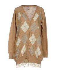Scee By Twin-set Natural Cardigan