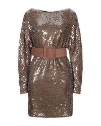 Relish Brown Short Dress