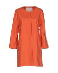 Beatrice B. Orange Overcoat