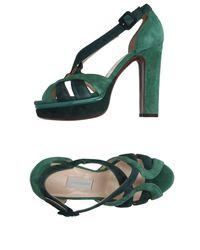 L'Autre Chose Green Sandals