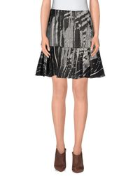 Philosophy di Alberta Ferretti - Gray Knee Length Skirt - Lyst