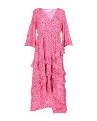 Vestido a media pierna Ganni de color Pink