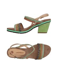 Maliparmi Green Sandals