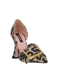 Zapatos de salón Rochas de color Metallic
