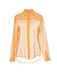 MSGM Orange Shirt
