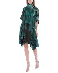 Robe courte Sacai en coloris Green
