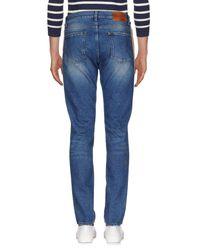 MSGM Blue Denim Trousers for men