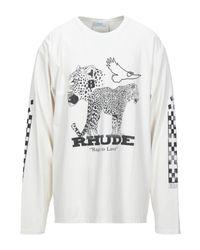 T-shirt di Rhude in White da Uomo