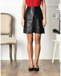 Jolie By Edward Spiers Black Knee Length Skirt