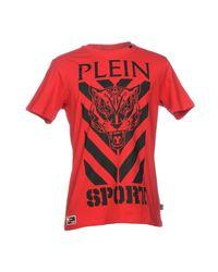 Philipp Plein Red T-shirt for men