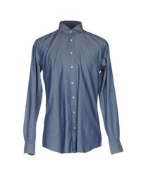 Camisa Windsor. de hombre de color Blue