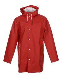 Stutterheim - Red Overcoat for Men - Lyst