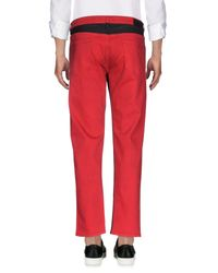 Pence | Red Denim Pants for Men | Lyst