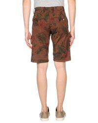 Franklin & Marshall - Brown Bermuda Shorts for Men - Lyst