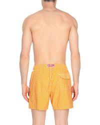 Fiorio Orange Swimming Trunks for men