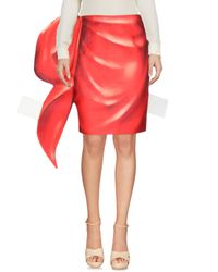 Gonna ginocchio di Moschino in Red