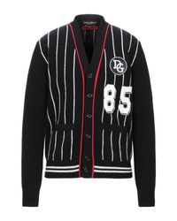 Dolce & Gabbana Strickjacke in Black für Herren