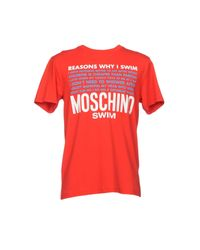 Moschino - Red T-shirt for Men - Lyst