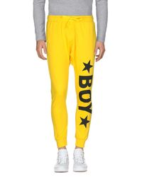BOY London Yellow Casual Pants for men