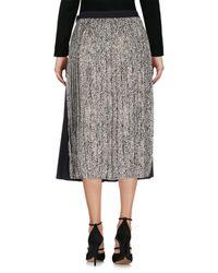 Ottod'Ame Black 3/4 Length Skirt