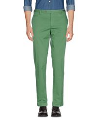 PT01 Green Casual Pants for men