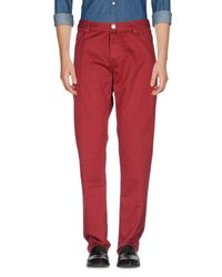 Pantalones Pt05 de hombre de color Red