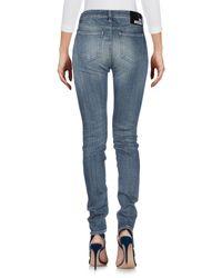 Pantalon en jean Love Moschino en coloris Blue