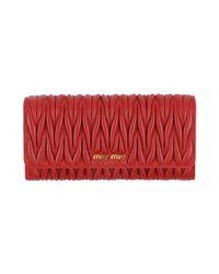 Miu Miu Red Brieftasche