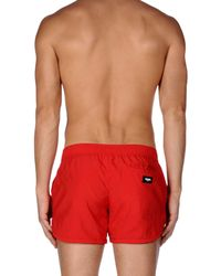 Moschino Red Swimming Trunks for men