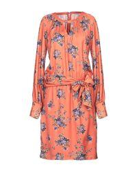 Silvian Heach Orange Knielanges Kleid