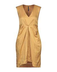 Vestito corto di Manila Grace in Yellow
