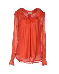 Roberta Scarpa - Orange Blouse - Lyst