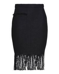 Adam Lippes Black Knee Length Skirt