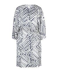 Peserico Gray Kurzes Kleid