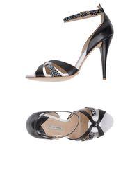 Gianni Marra Black Sandals