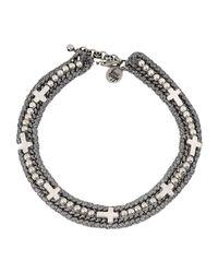 Venessa Arizaga - Gray Necklace - Lyst