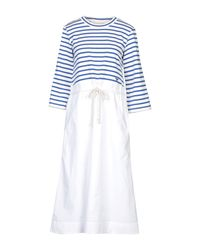 Tory Burch White 3/4 Length Dress