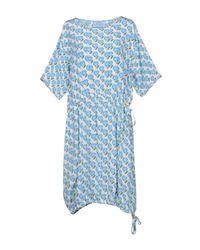 Prada Blue Long Dress
